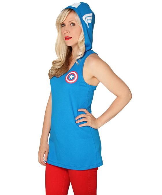 Captain America Hooded Tank