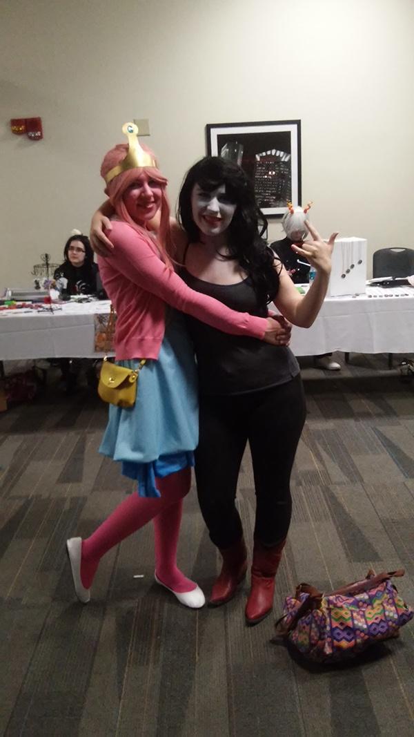 Princess Bubblegum and Marceline from <em>Adventure Time</em>