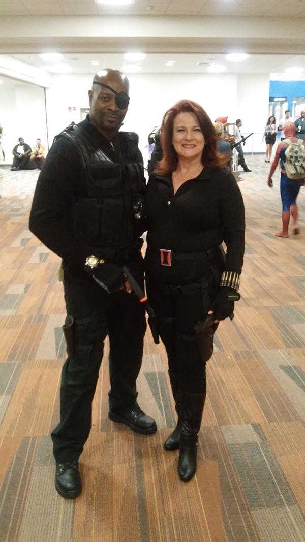 Nick Fury and Black Widow
