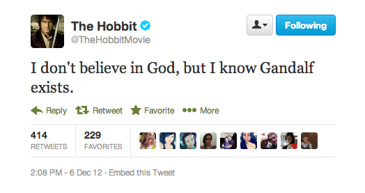 I have always compared Gandalf with God, do you think it's an apt comparison?