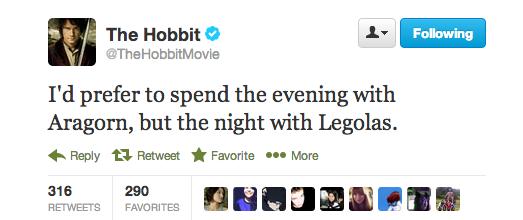 Do you prefer Legolas or Aragorn?