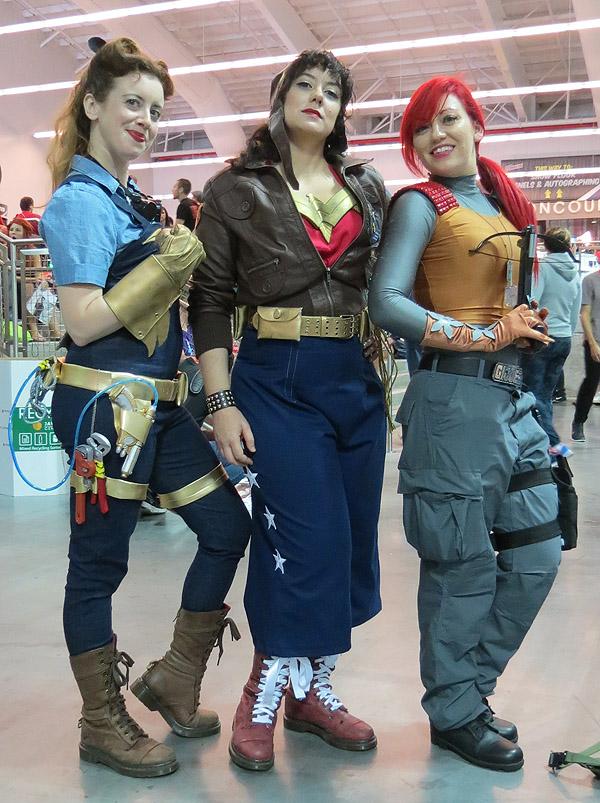 Riveter Batgirl, Riveter Wonder Woman, and Scarlett