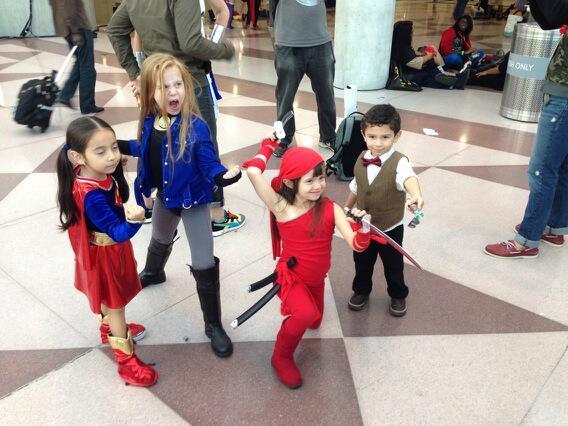 Supergirl, Black Canary, Elektra, the Doctor