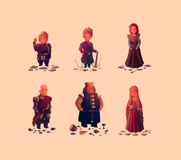 Tyrion, Joffrey, Margaery, Tywin, Robert, Cersei