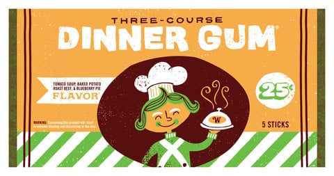 Three-Course Dinner Gum