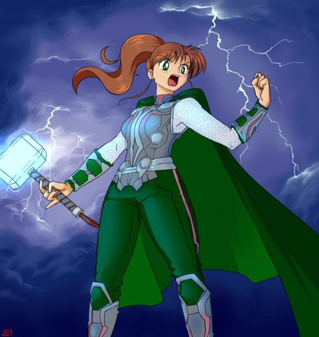Sailor Jupiter as Thor
