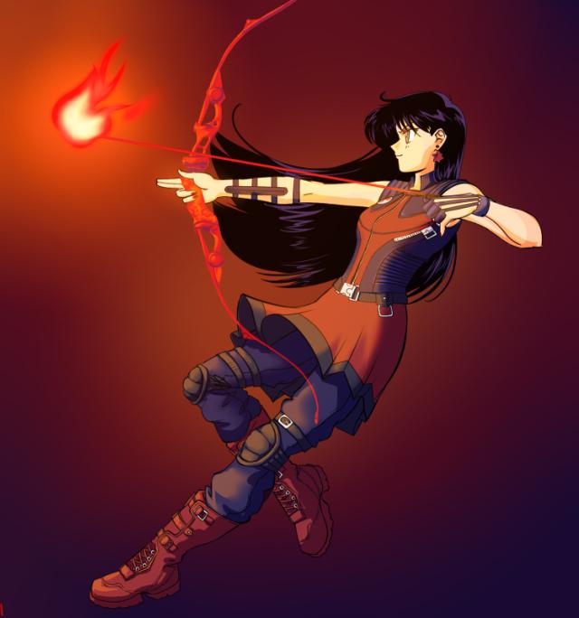 Sailor Mars as Hawkeye