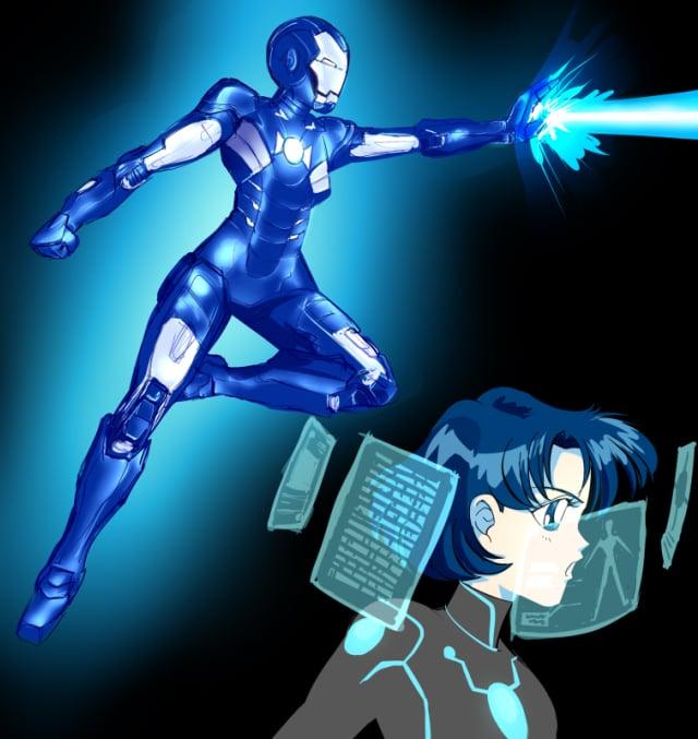 Sailor Mercury as Iron Man