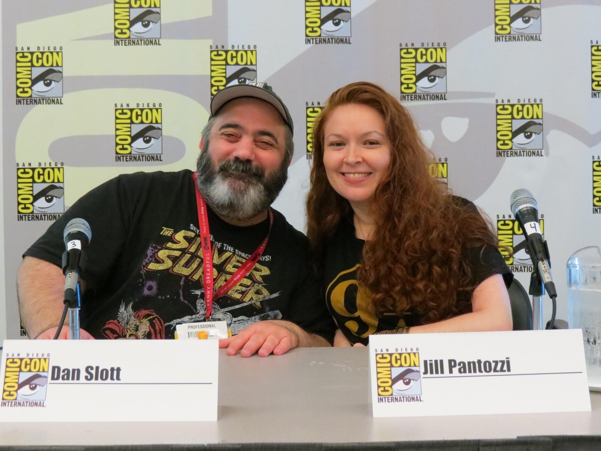 Jill and Dan Slott at his spotlight panel.
