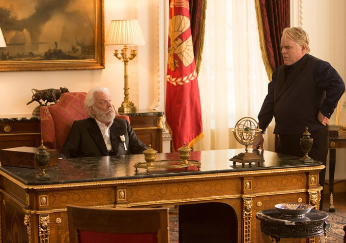 President Snow and Plutarch Heavensbee