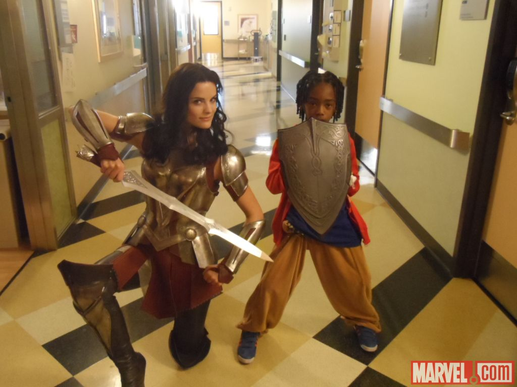 lady sif took some time off protecting asgard to visit