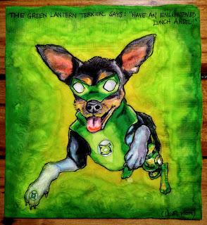 Green Lantern Toy Terrier