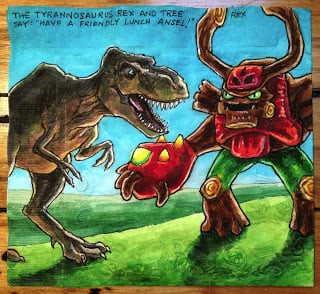 Tyrannosaurus Rex and Skylanders Tree Rex