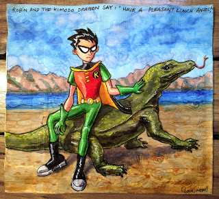 Teen Titans Robin and Komodo Dragon