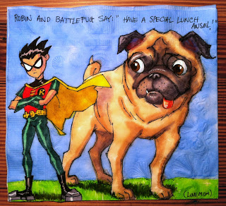 Teen Titans Robin and Battlepug